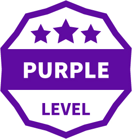 Purple Level Badge