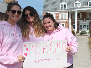 A photo from one of our successful fundraisers: Pie a Chi O!