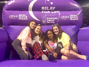 Some of our sisters at last years Relay For Life!