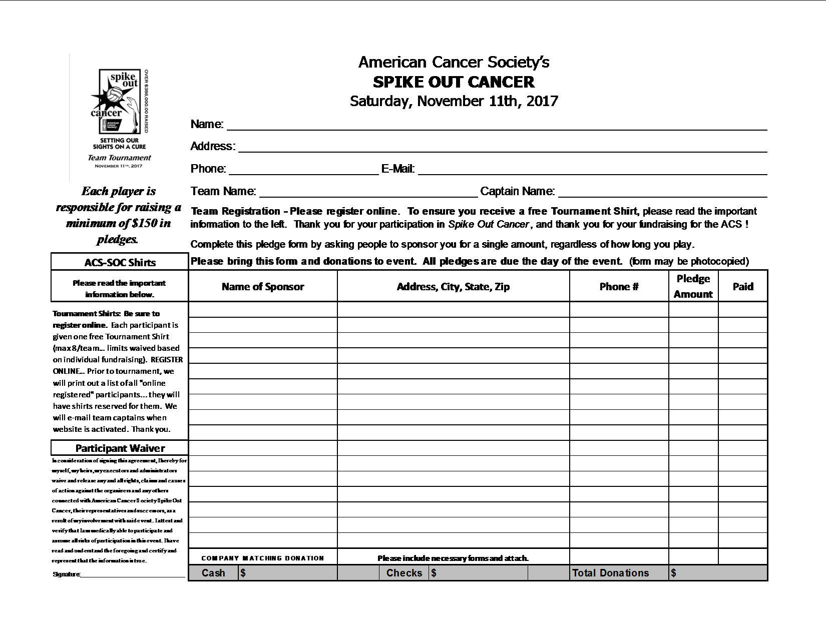 pledge form template
