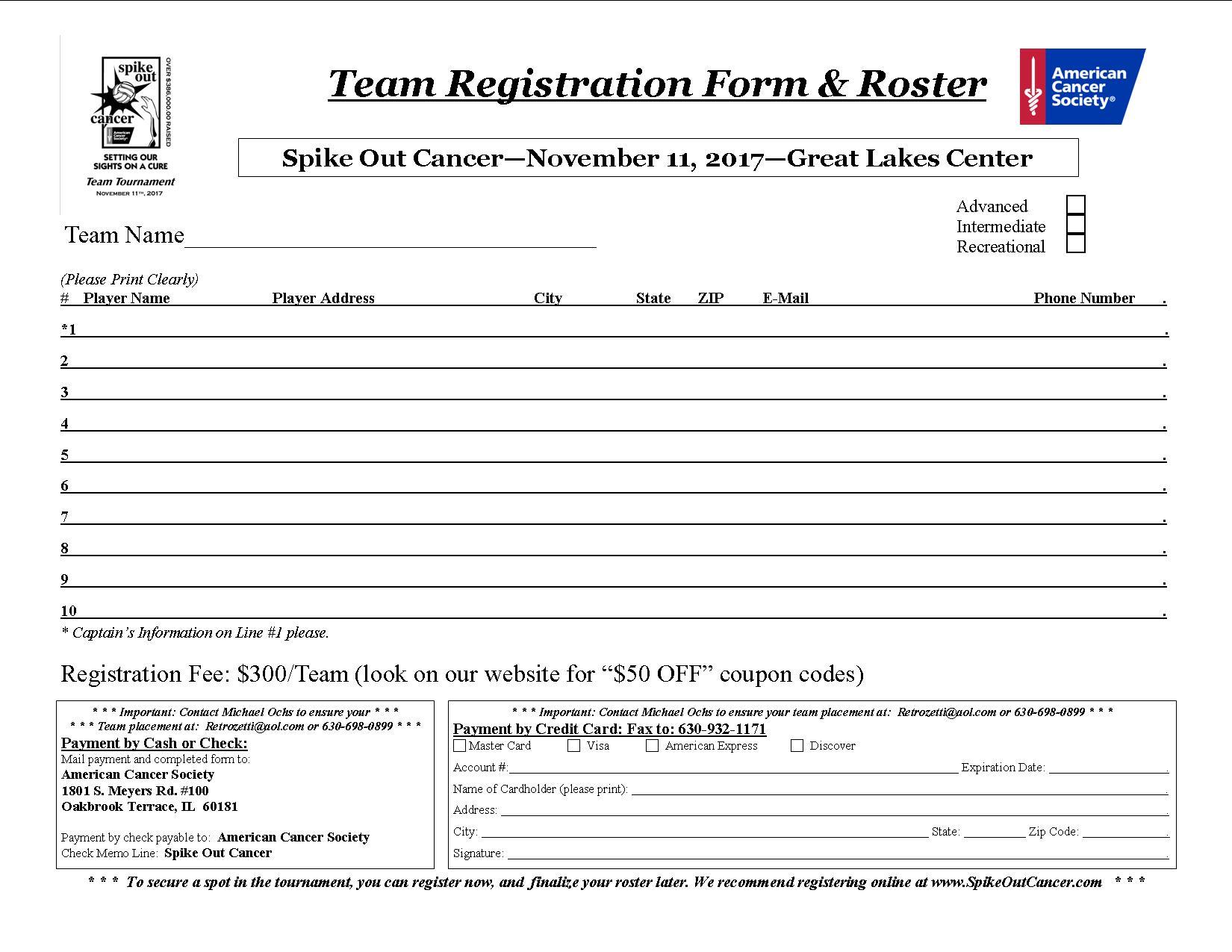 Team registration form template eliolera registration form template word best business template pronofoot35fo Gallery