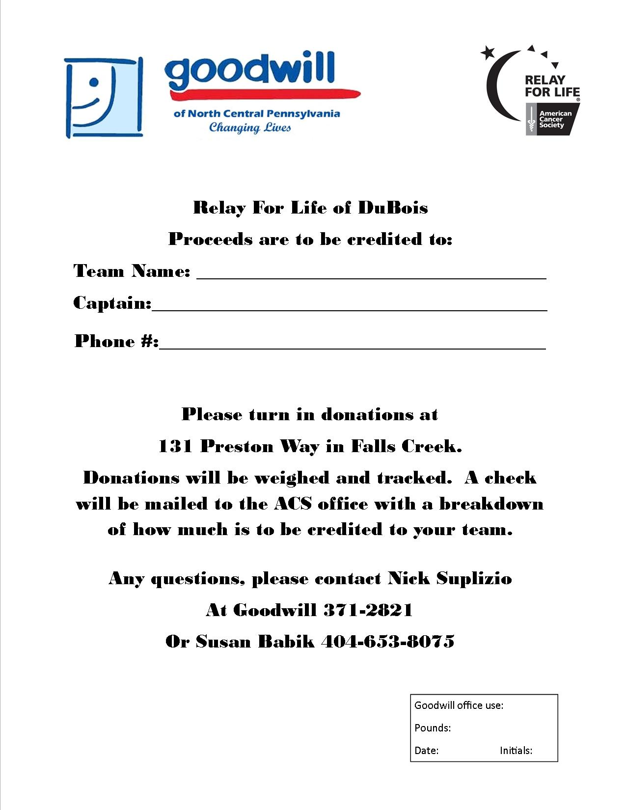 Relay For Life of DuBois | Sign Up For Relay For Life of Relay For ...