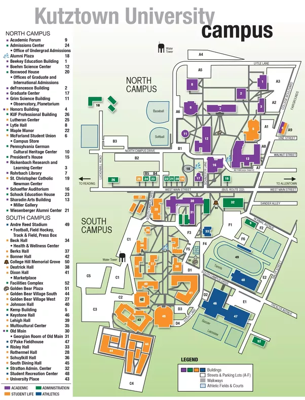 Kutztown University Map | compressportnederland